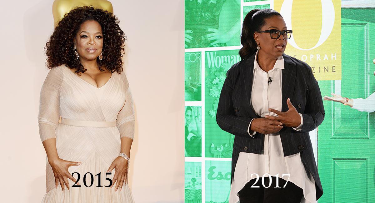 Oprah winfrey antes y despues de bajar de peso