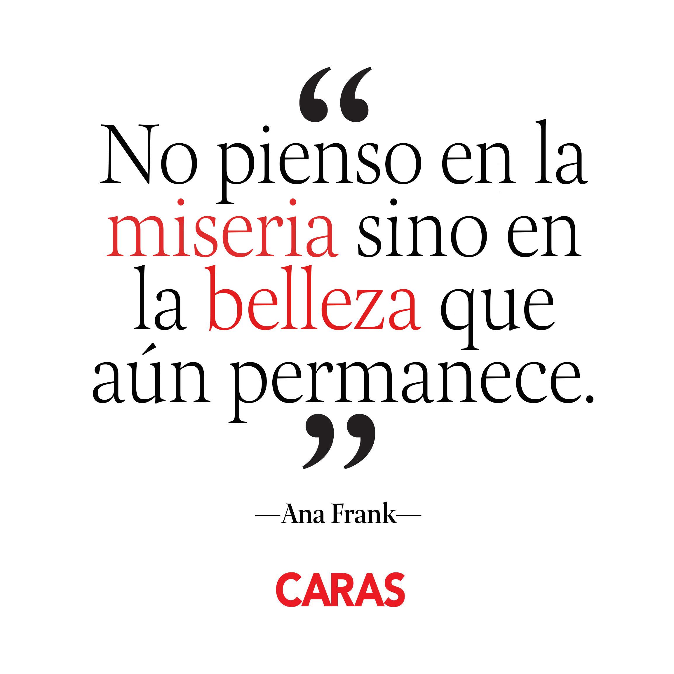 10 Frases Inolvidables De Ana Frank Revista Caras