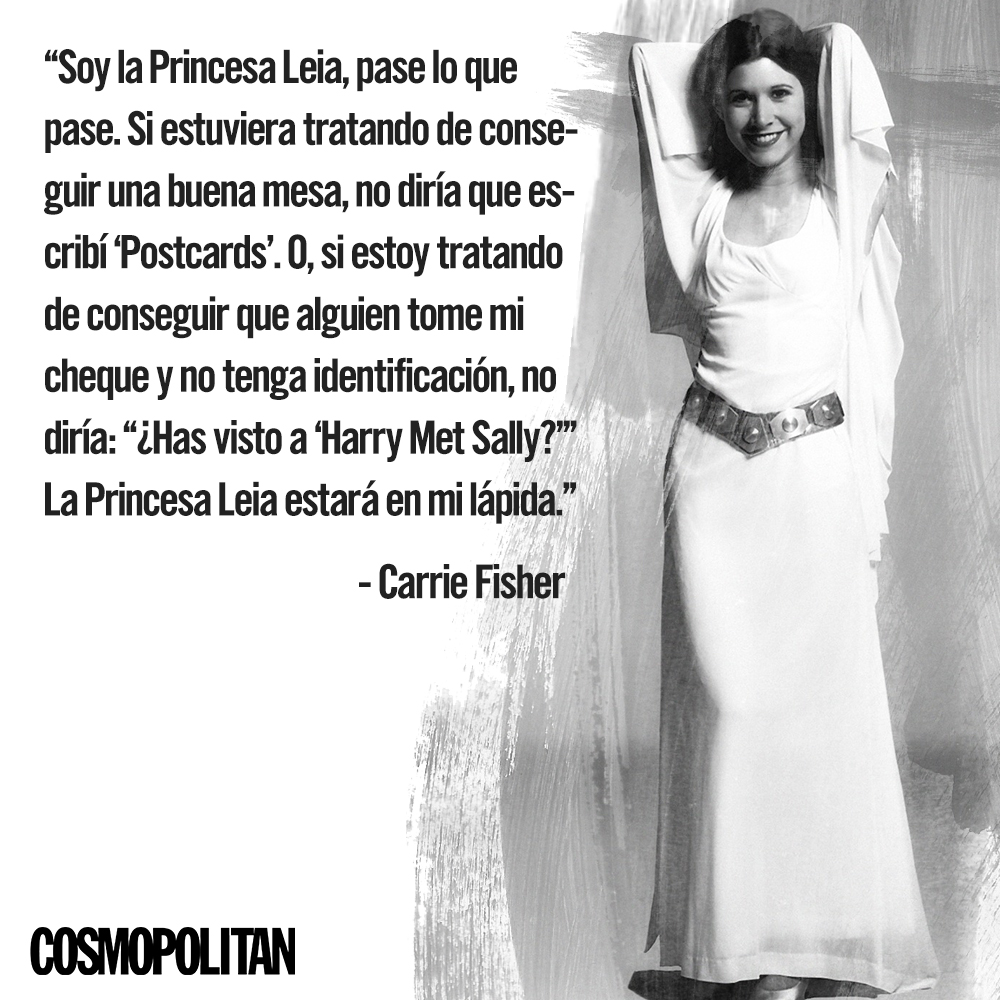 Ripcarriefisher Las Frases Feministas De La Eterna Princesa