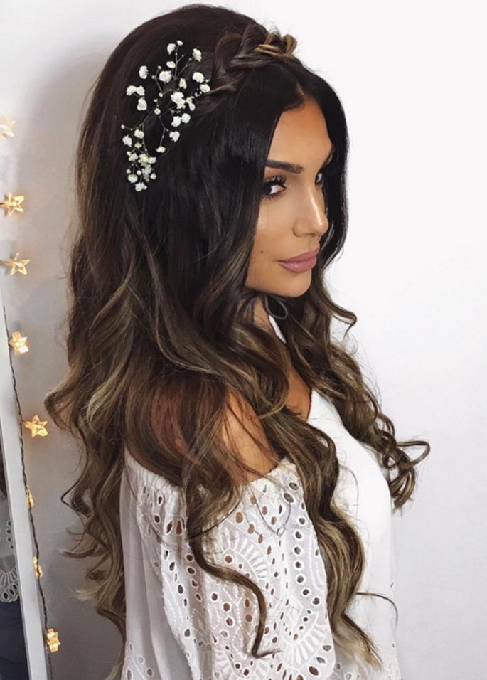 Sensacional peinados largos Fotos de cortes de pelo tutoriales - 17 Espectaculares Peinados Para Tu Boda Si Tienes El Pelo ...