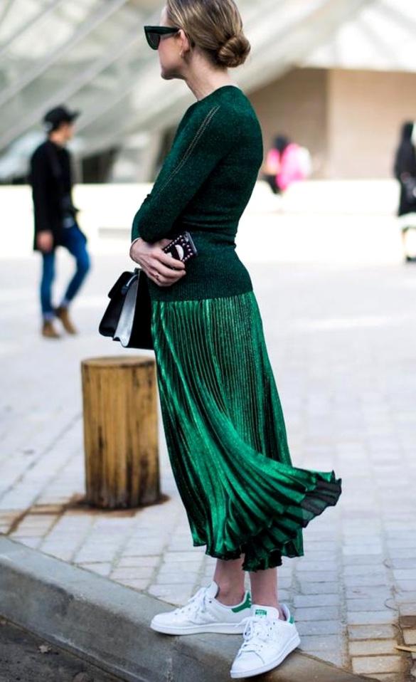 Falda larga de cintura elástica de leopardo | Falda de