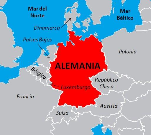 ¿Con cuántos países comparte frontera Alemania? - National