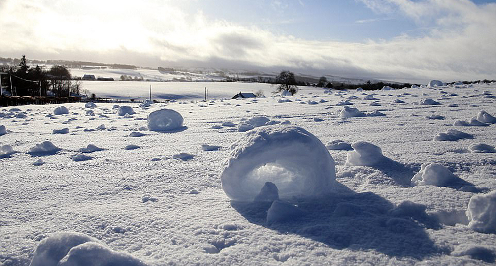 hermosos anillos de nieve