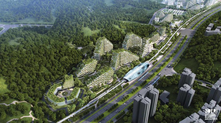 Image result for diseñan la primera ciudad bosque contaminacion
