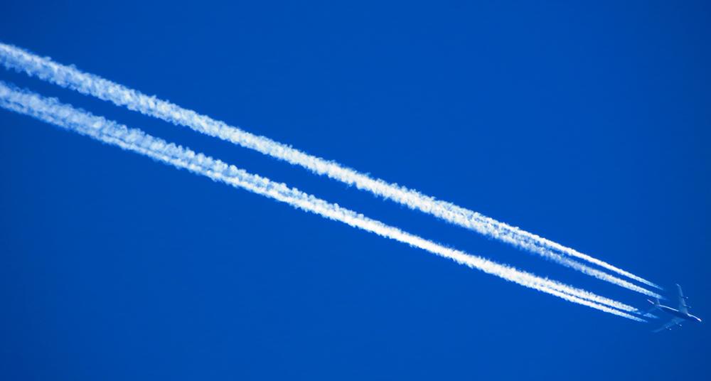Estelas de los aviones