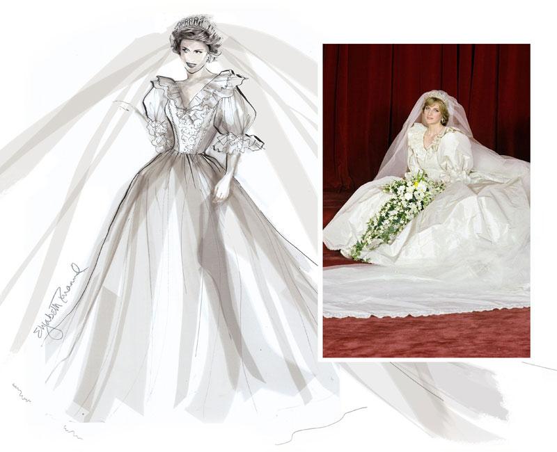 se revela fotografía inédita de diana en su boda con el príncipe