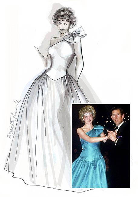 Los Bocetos De Los Vestidos Más Icónicos De Lady Di Vanidades