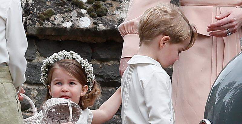 e88824580 El pequeño George y su hermana Charlotte estaban haciendo un gran trabajo  como pajes de Pippa. Sin duda era una gran responsabilidad para los hijos  de los ...